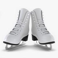 3d model of ice skates