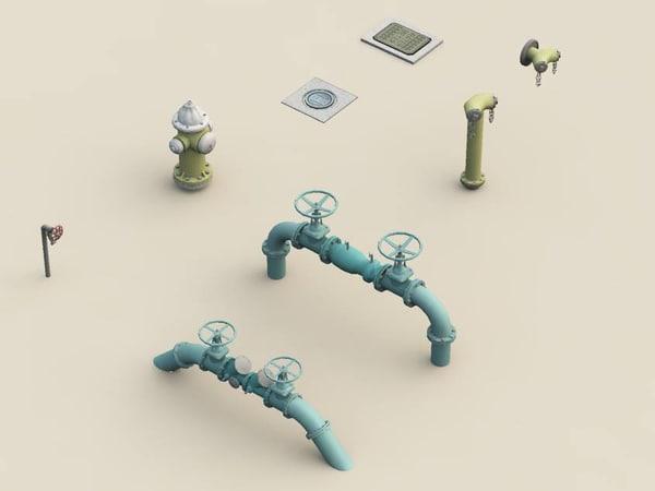 water utilities 3d model