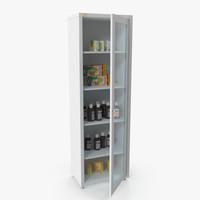 3d cabinet medicines m1 model