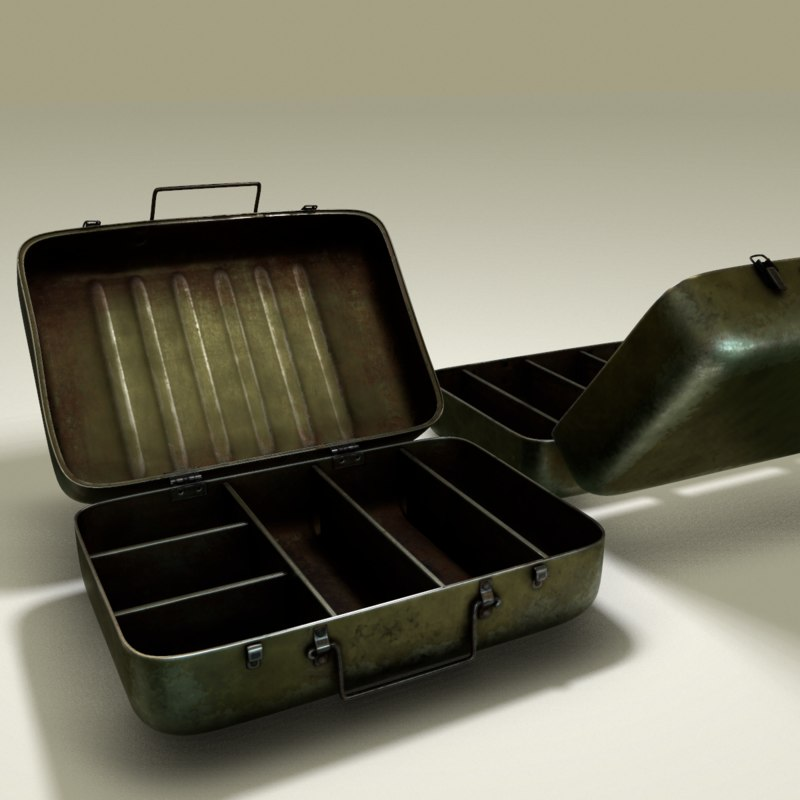green military box metall 3d model