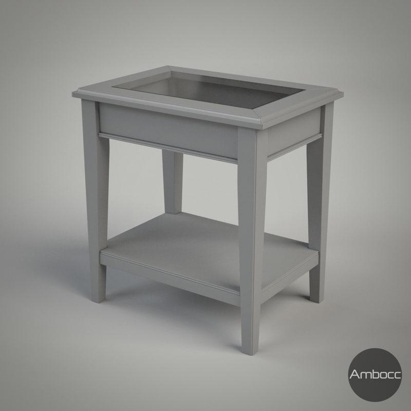 ikea liatorp table gray 3d obj