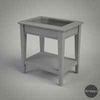 3d ikea liatorp table gray model