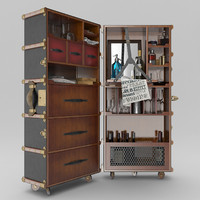 authentic stateroom armoire travel 3d obj