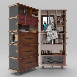 authentic stateroom armoire travel 3d obj