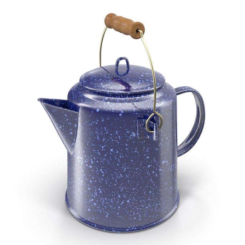 3d model camping coffee pot