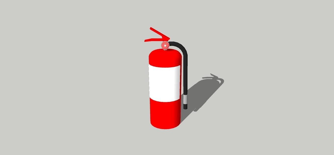 3d extintor fuego model