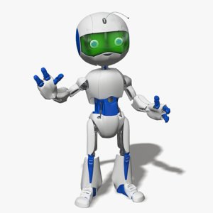 3d cartoon robot boy