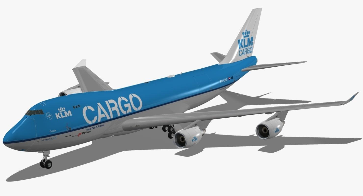 obj boeing 747-400 erf klm