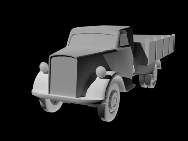 3d germany truck opel blitz model