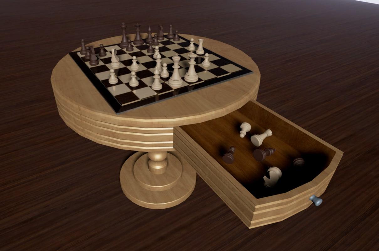 3d chess table 2 model
