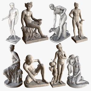 3d model classic statues pol