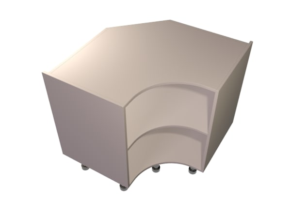 curved base unit carcasse 3d max