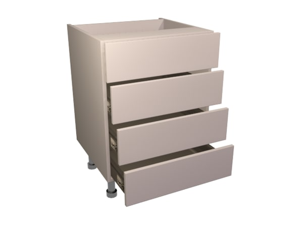 drawer pack 4 base 3d model