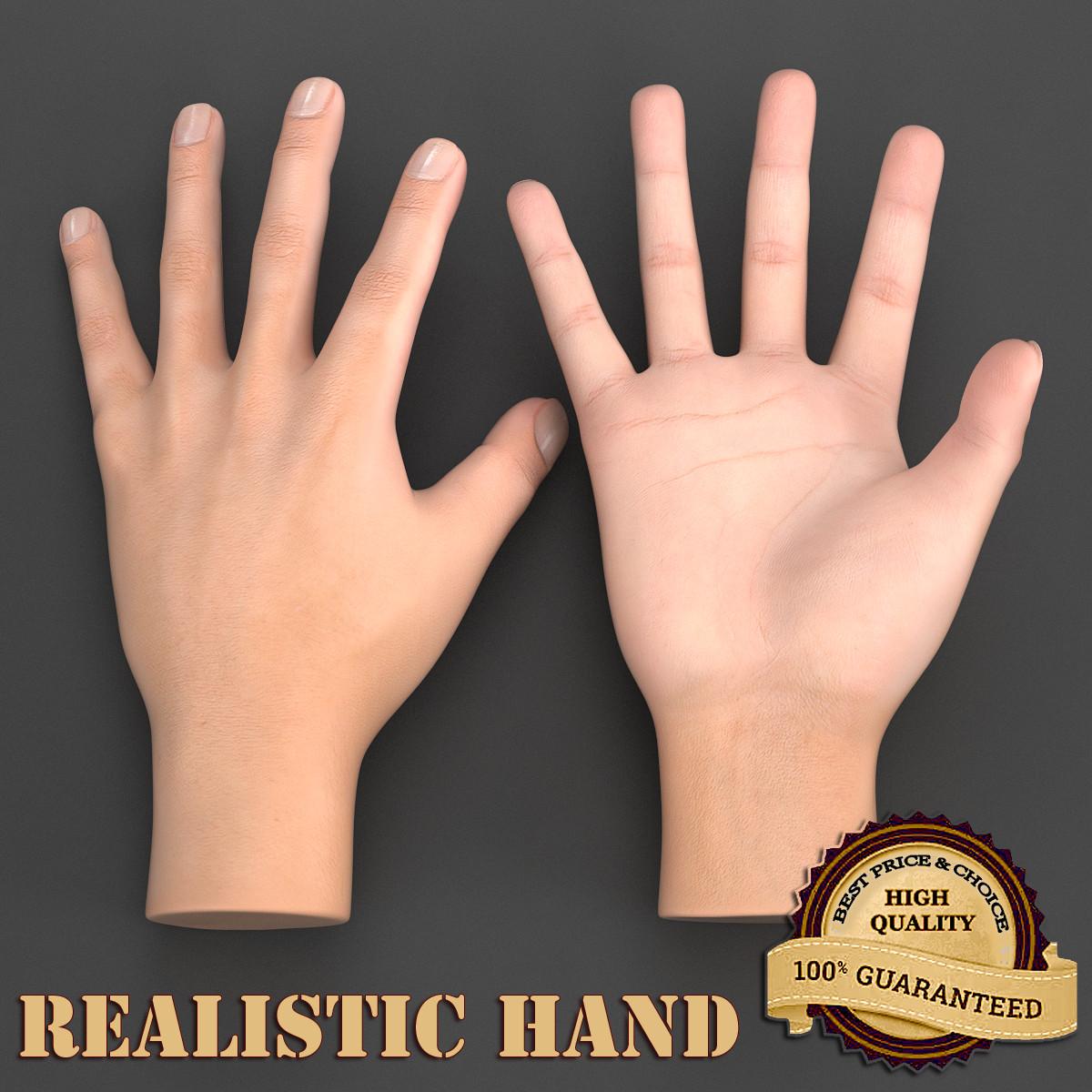 hand realistic 3d model