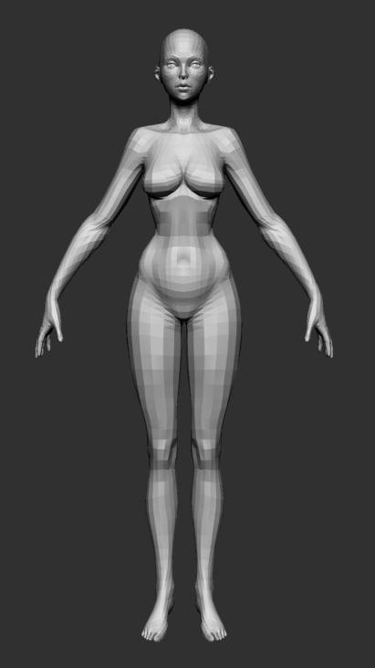 3d model female basemesh ztl