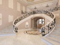 3d model interior classical mansion