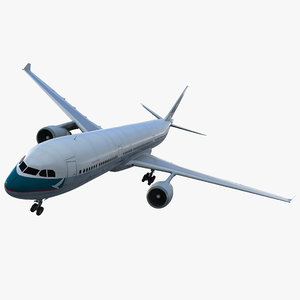 jet airliner airbus a330-300 3d model