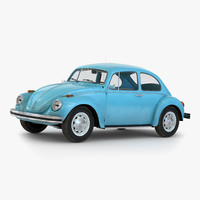 volkswagen beetle 1966 simple 3d model
