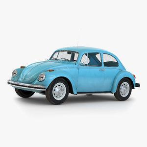volkswagen beetle 1966 simple 3d model
