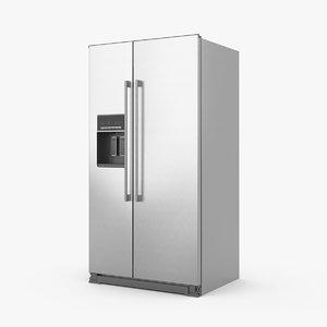 3d model ikea nutid side-by-side refrigerator