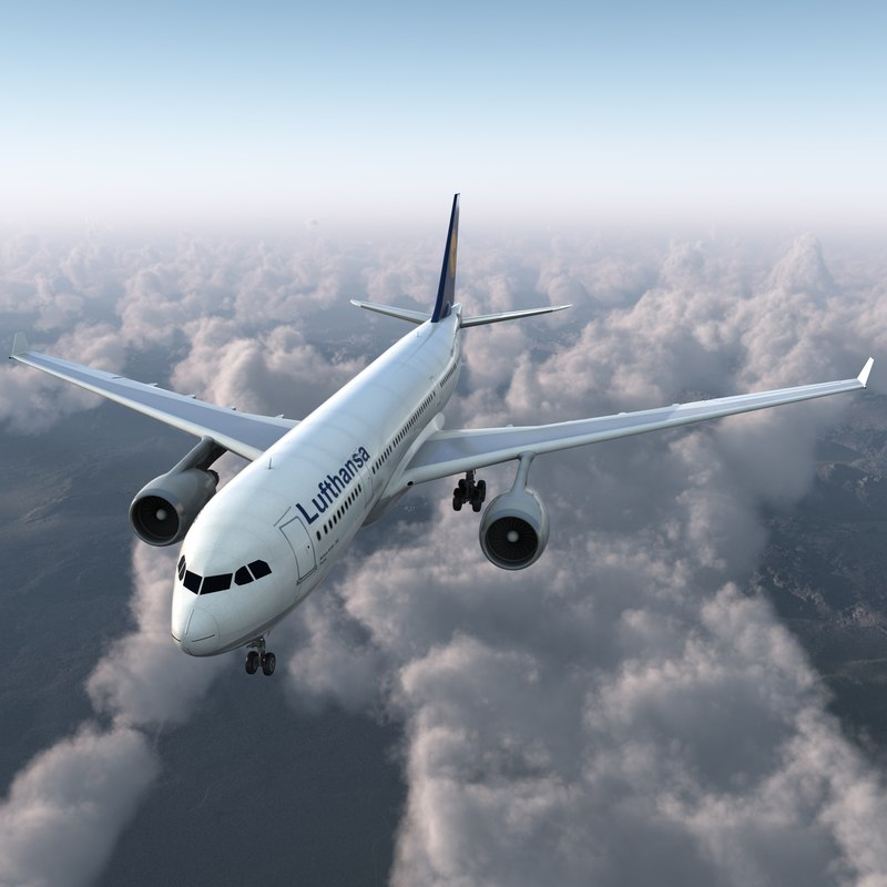 3d max jet airliner airbus a330-200
