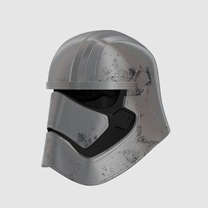 captain phasma helmet 3d model