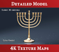 3d jewish menorah hanukkah model