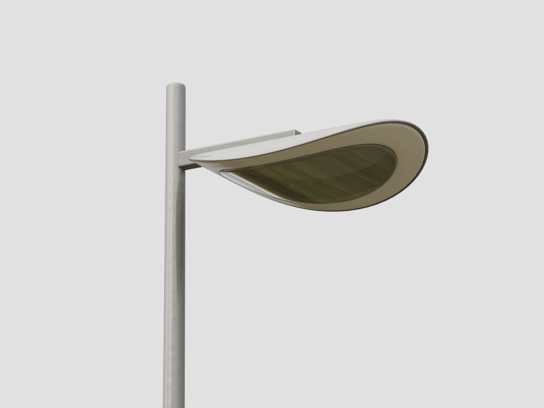 3d model of modern street light