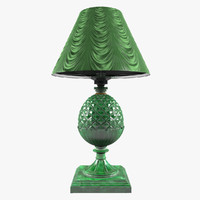 3d model lamp malachite stone