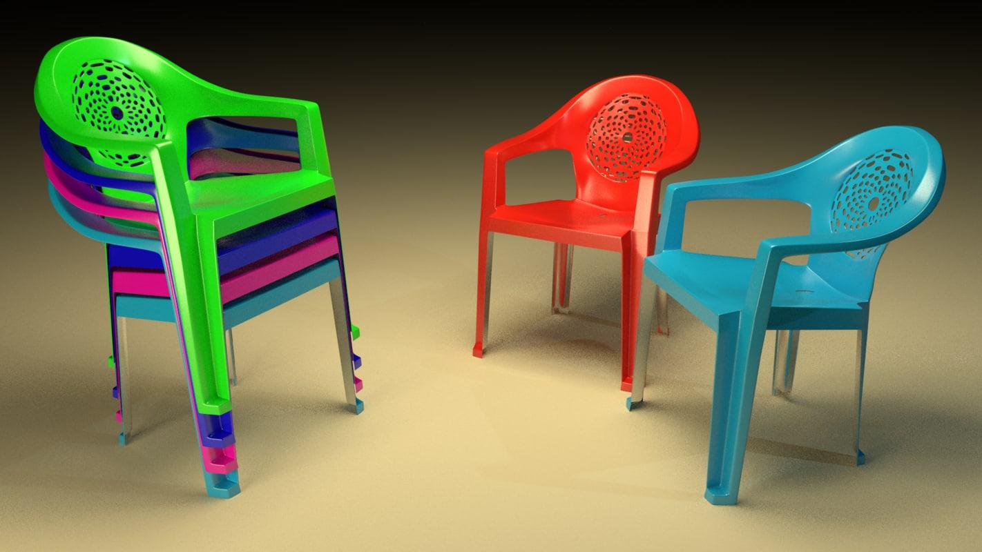 plastic chair 3ds