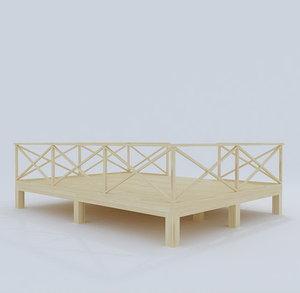 3d model terrace wood 01