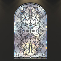 Stained glass window arc