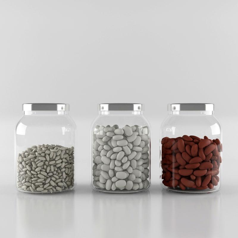 3d model jar bean