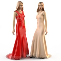 evening wedding dress 3d 3ds