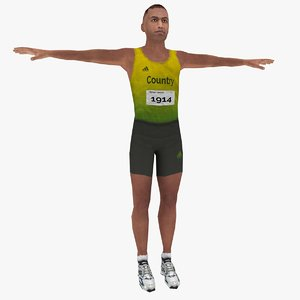 3d model olympic athlete