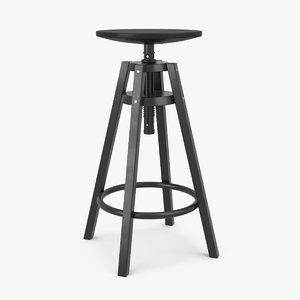 3d model ikea dalfred bar stool