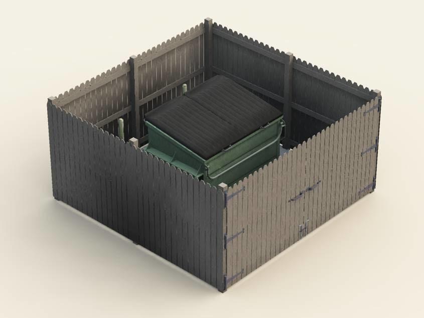 dumpster enclosure 3d model