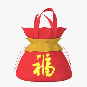 3d model of chinese gift bag