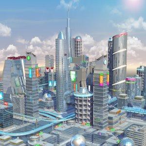 future city hd obj