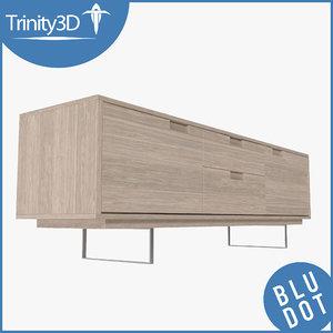 blu dot console 3d model