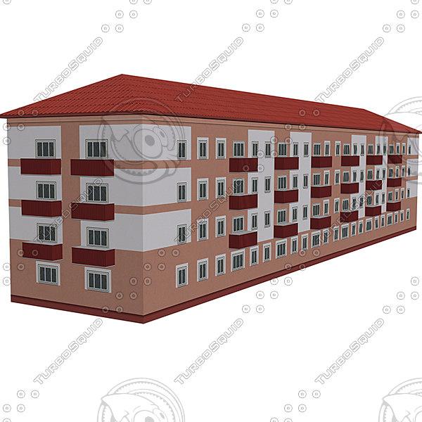 3d model house street
