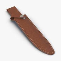 leather knife sheath 3d max