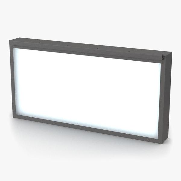 medical xray light box 3ds