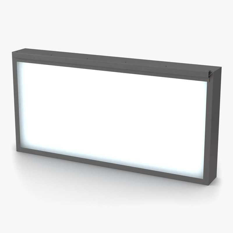 medical xray light box 3ds