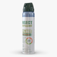 3d model mosquito repellent bottle generic