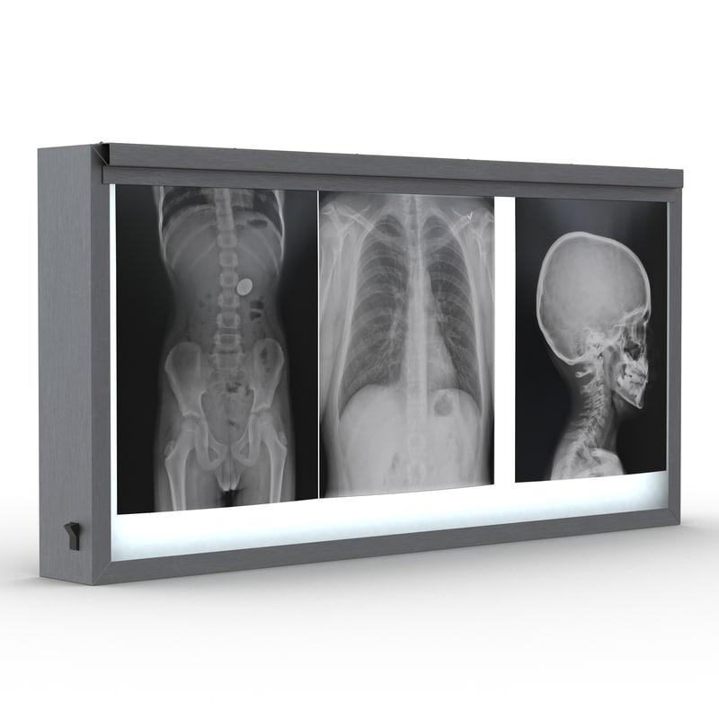 3d model xray light box x