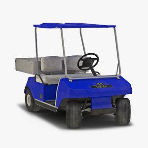utility golf cart blue max