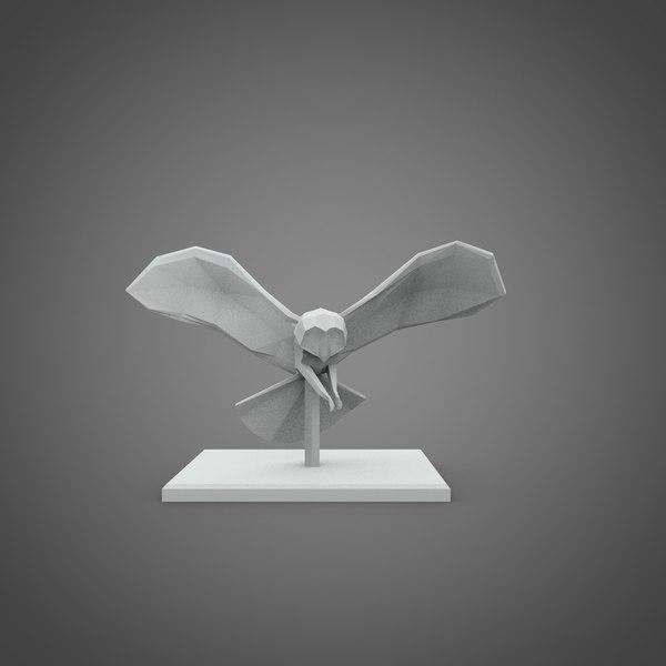 c4d owl pedestal