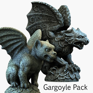 gargoyle pack 3d model