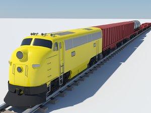 train 3d max